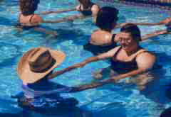 Nurses practicing Watsu - Courtesy of American Holistic Nurses Association - CLICK FOR WEBSITE