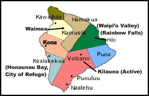 The Island of Hawaii - Courtesy of Big Island Visitors Bureau - CLICK for Website