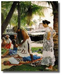 Native Hawaiian bodywork at Place of Refuge - Courtesy of Dane Silva - CLICK for Website